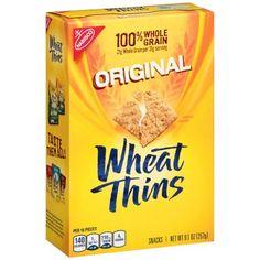Wheat Thins Original Whole Grain Wheat Crackers, Family Size, 16 oz Wheat Crackers, Ritz Crackers, Apple Pie Dip, Accidentally Vegan Foods, Whole Grain Wheat, Vegan Recipes, Snack Recipes, Vegan Desserts, Wheat Thins