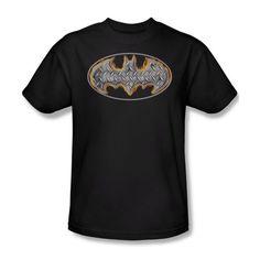 Superman Tees Men's Batman/Steel Fire Shield Tee - http://bandshirts.org/product/superman-tees-mens-batmansteel-fire-shield-tee/