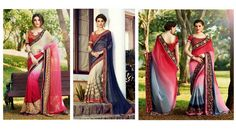 Indian Georgette Designer Sarees Collection