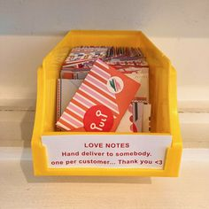 Contains 75 mini tear-off sheets to send little notes of love. Each one can be folded into an adorably small envelope, sealed with the enclosed stickers, and slipped into a loved-one's pocket. Chronicle Books & Lea Redmond.