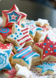 make decorated cookies with a surprise inside! these are 4th of july, but will work for any holiday!
