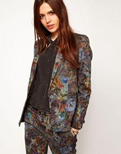 I adore dark, moody florals - ASOS Premium Floral Printed Jacket