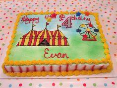 Yummy circus birthday cake!