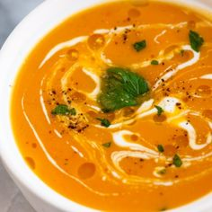 Creamy Butternut Squash Soup Recipe -Easy, creamy butternut squash soup sure to keep you warm on a chilly autumn or winter day.
