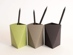 3box L-Green-Grey-Black-OrigamiPaperBox by King Kong Design made in Spain on CROWDYHOUSE