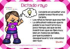 tipos de dictado (2) Teacher Tools, Teacher Hacks, Teacher Resources, Class Games, Classroom Activities, Apps For Teaching, Elementary Spanish, Spanish Class, Drama Class