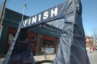 The finish line at the last of the 3-race Wild Rover series.