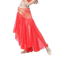 Dancewear Polyester With Sequins Belly Dance Bottom for Ladies(More Colors) – USD $ 19.99