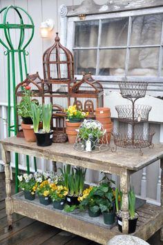 .I want this garden table. Fun and functional.