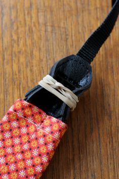 diy wednesdays: camera strap cover