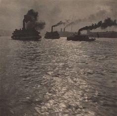 Harold Cazneaux Silver and grey Circular Quay pre1910