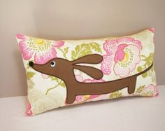 Doxie Dachshund Dog Pillow Doxie in the by persnicketypelican