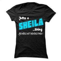 It is SHEILA Thing ... 999 Cool Name Shirt ! - #shirt girl #funny sweater. SIMILAR ITEMS => https://www.sunfrog.com/LifeStyle/It-is-SHEILA-Thing-999-Cool-Name-Shirt-.html?68278