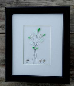Pebble art flowers birds Flowers birds home decor
