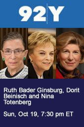 Supreme Court Justice Ruth Bader Ginsburg and former President of the Supreme Court of Israel Dorit Beinisch in Conversation with Nina Totenberg