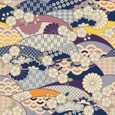 ❅️ Credits to its respective author. Pattern Dots, Doodle Pattern, Pattern Texture, Pattern Design, Japanese Textiles, Japanese Patterns, Japanese Prints, Japanese Paper, Japanese Fabric