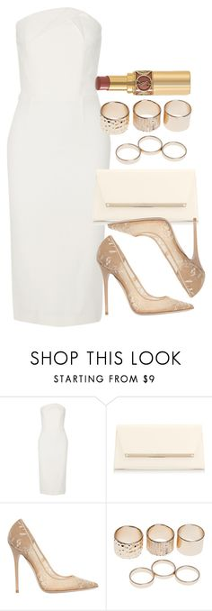 """Style #9424"" by vany-alvarado ❤ liked on Polyvore featuring Roland Mouret, Jimmy Choo, Wet Seal and Yves Saint Laurent"