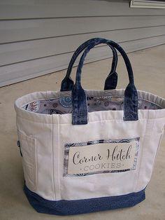 Custom order tote https www etsy com shop harvesthomestudio Denim gift bag by touchofdenim on etsy – Artofit Jean Purse – Form and Fashion America - Salvabrani Sacs Tote Bags, Denim Tote Bags, Canvas Tote Bags, Reusable Tote Bags, Women's Bags, Denim Handbags, Tote Handbags, Purses And Handbags, Small Handbags