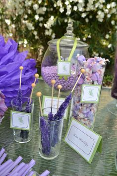 Baby Shower Candy Favor Station. Purple is the new Pink.