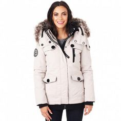 Noize® Women's Mid-Length Winter Jacket With Removable Hood - Sears   Sears Canada