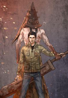Alex and Pyramid-head | Silent Hill