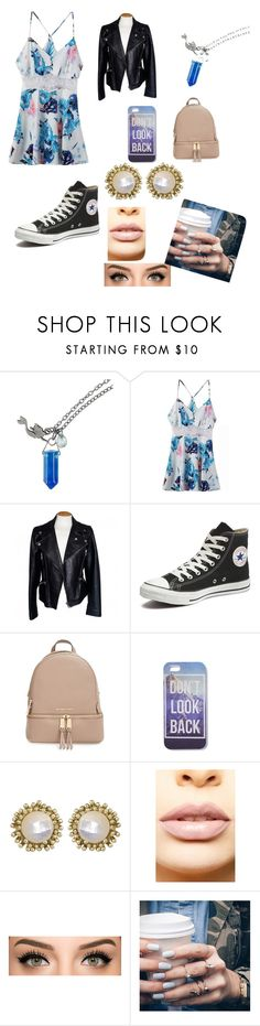 """Party"" by makeupdiva105 ❤ liked on Polyvore featuring Disney, Alexander McQueen, Converse, MICHAEL Michael Kors, Kendra Scott, LASplash, Floss Gloss, women's clothing, women's fashion and women"