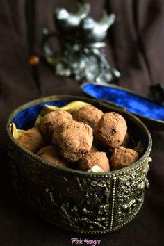 red wine dark chocolate truffles
