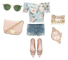 """Look para el Jueves"" by luciaysuscositas on Polyvore featuring True Religion, Miss Selfridge, Miu Miu, Oliver Peoples, River Island and Forever 21"
