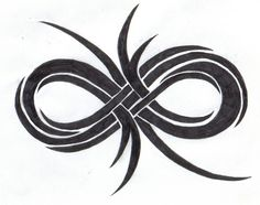 tribal infinity tattoo with kids name's incorporated.