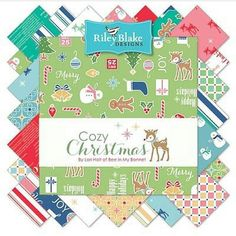 I'm happy to announce a new 2016 fabric collection...Cozy Christmas by Lori Holt of Bee in my Bonnet. Hey! That's me!!!  I can almost hear the jingle bells and see the snow outside and smell the gingerbread baking:) I love Christmas and I hope you will love my fabric!!!! ❤️ #beeinmybonnet #cozychristmasfabric #iloverileyblake