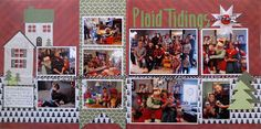 Christmas layout from Random Memories blog -Christmas (2015), we were able to get together with the entire Leonhardt extended family at Mark's sister's home. Her two boys were bot...