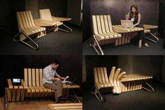 Interchangeable seat/table