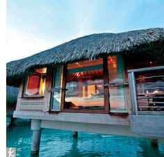 Honeymoons Travel: Bungalow in Bora Bora from The Knot