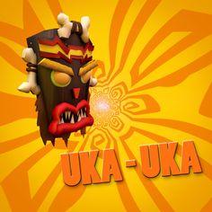 Uka Uka from Crash Bandicoot game