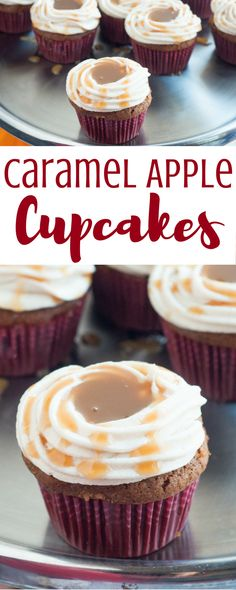 Then you'll love these delicious Caramel Apple Cupcakes featuring your favorite fall flavors! Get the recipe. Decor Style Home Decor Style Decor Tips Maintenance home Cupcake Recipes, Cupcake Cakes, Dessert Recipes, Cupcake Flavors, Fun Cupcakes, Frosting Recipes, Caramel Apple Cupcakes, Caramel Apples, Fun Desserts