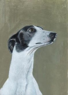 """Donna McGlynn; Painting, """"Greyhound."""" There are many greyhounds featured in the Saatchi Online """"It's a Dog's Life"""" collection-I wonder why?"""