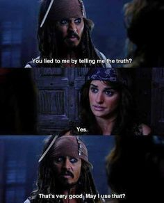 Conversation tips from Captain Jack... #pirates / http://saltlakecomiccon.com/slcc-2015-tickets/?cc=Pinterest