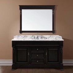 Single Sink Bathroom Vanity | ... Single Sink Bathroom Vanity - Dark Walnut modern bathroom vanities and