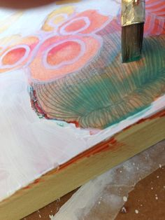 How to paint flowers with mixed media on yupo paper : Orange Blossoms on ARTiful painting demos by Sandrine Pelissier #PaintingDemos #SandrinePelissier #MixedMedia