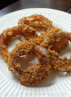 Sugar Free Like Me: Low Carb Onion Rings with Pork Rind Breading