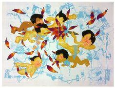 A shared religion proved a new lesson, David Rios Ferreira, Gouache, watercolor and blue pencil. 2012. 33x42