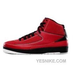 Big Discount! 66% OFF! Nike Air Jordan 2 II Retro Baskets Rouge