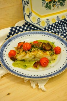 Lombos de Bacalhau com Aneto e Tomate Cereja * Cod with Cherry Tomato and Dill