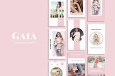 Gaia Instagram Stories by SlideStation on @creativemarket