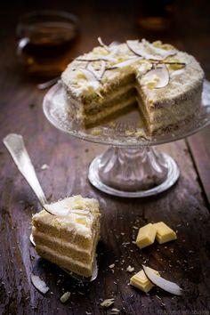 Layer cake noix de coco et chocolat blanc   Jujube en cuisine