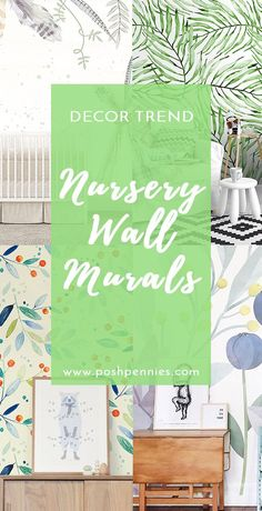 Nursery Wall Murals are all the rage right now in home decor! nowadays you can find any design you want! Easily decorate your baby's room to add character and visual stimulation! Nursery Wall Murals, Nursery Decor, Floral Nursery, Nursery Design, Nursery Ideas, Room Decor, Nursery Wallpaper, Tropical Pattern, Natural Home Decor