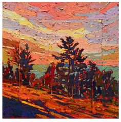 Discover and Buy Canadian Art Online. Affordable Original Artwork Including Paintings, Mixed Media, Photography by Emerging and Established Artists. Oil Painting Frames, Oil Painting On Canvas, Oil Paintings, Abstract Landscape, Landscape Paintings, Canadian Artists, Tree Art, Painting Techniques, Painting Inspiration