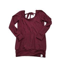 Basic Bordeaux - Women's Low Back Tunic Low Back, French Terry, Bordeaux, Perfect Fit, Black Women, Tunic, Bear, Tank Tops, Sweatshirts