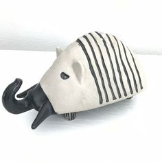 Bennington Potters Vermont Elephant Bank #1542 David Gil design MCM | eBay