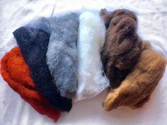 Karakul Merino wool batts 50g great for needle felting free p+p
